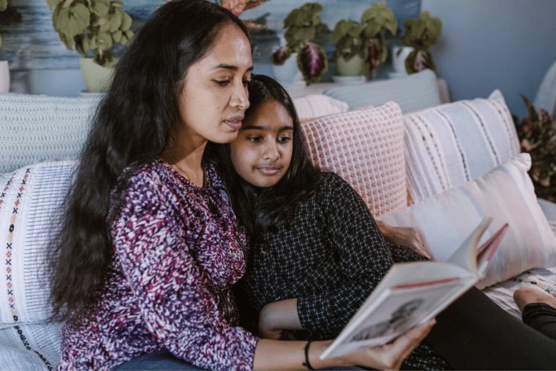 Girl empowered by literacy